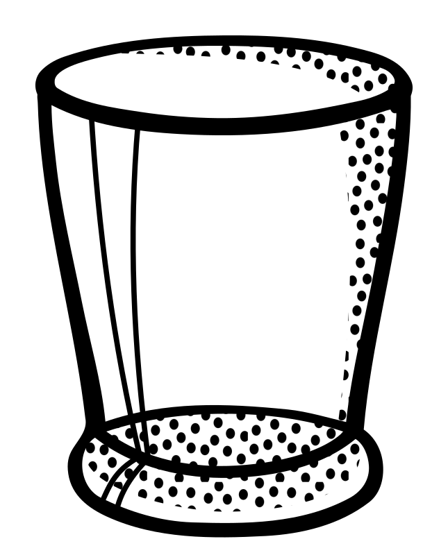 Line Art Glasses : Clipart water glass lineart