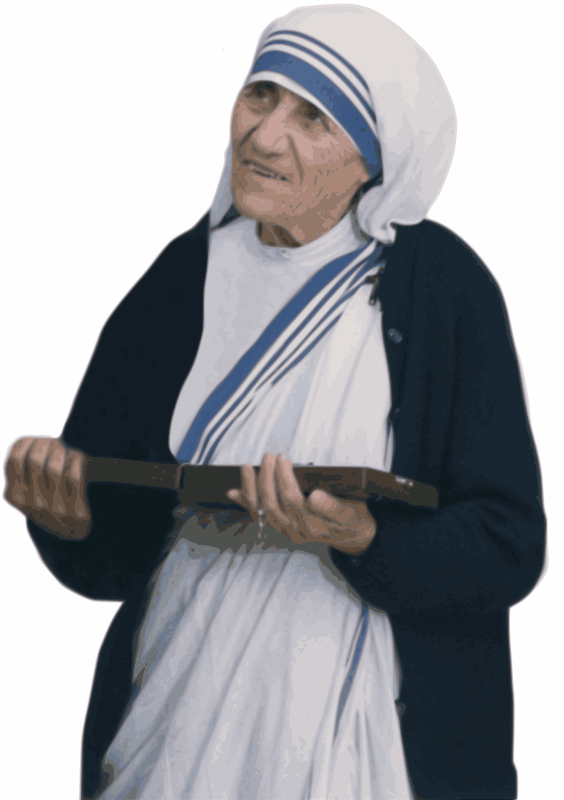 Clipart - Mother Teresa Public Domain Trace