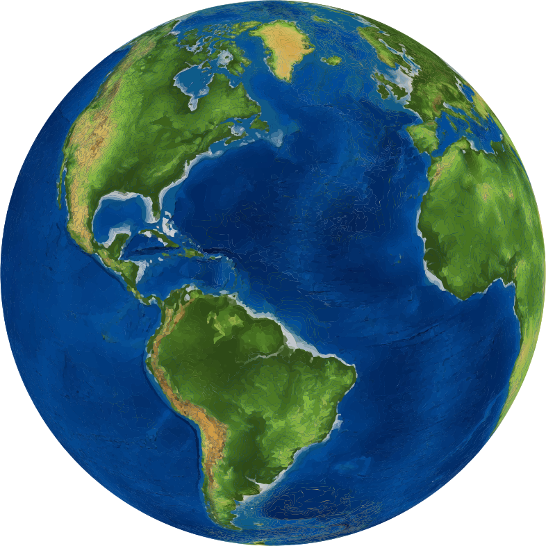 Clipart - 3D Earth Globe
