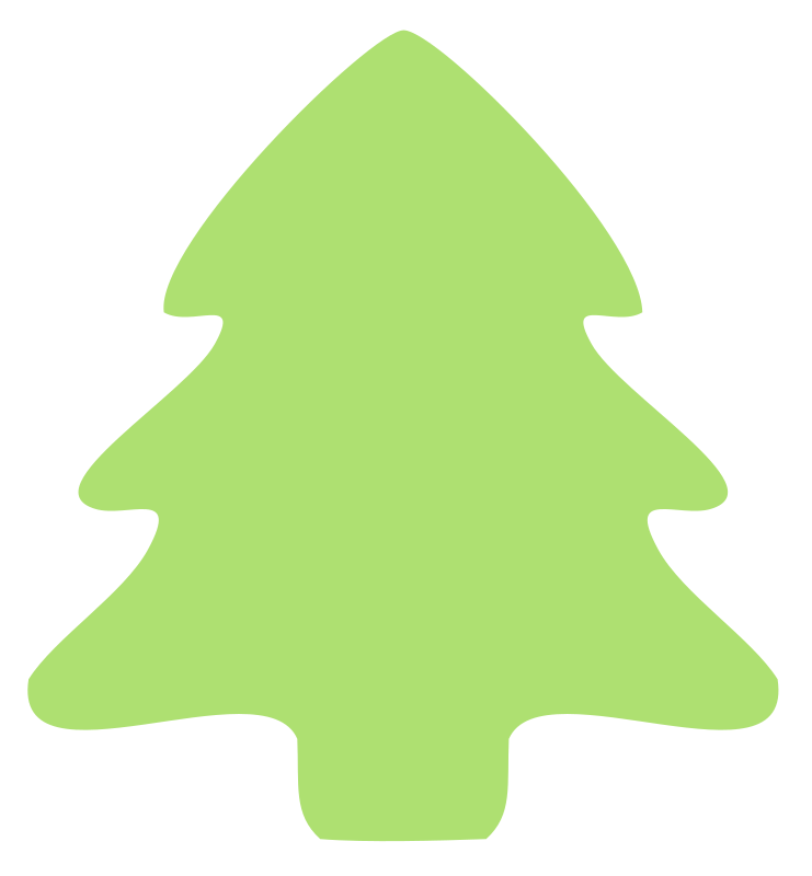 christmas tree icon by molumen - christmas, green, icon, pattern, plant, schematic, symetric, tree, xmas,