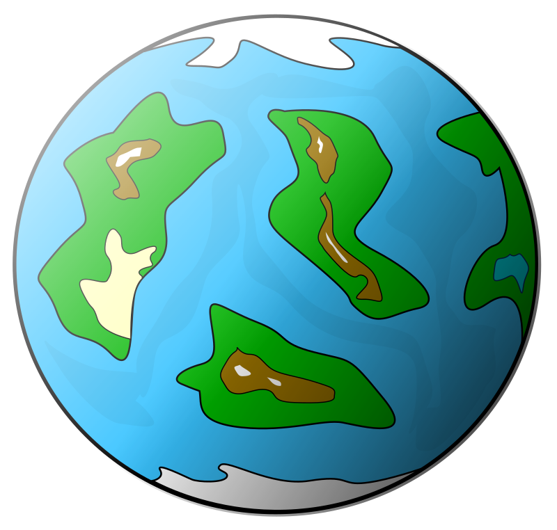 Planet by bogdanco - Planet icon with continents.