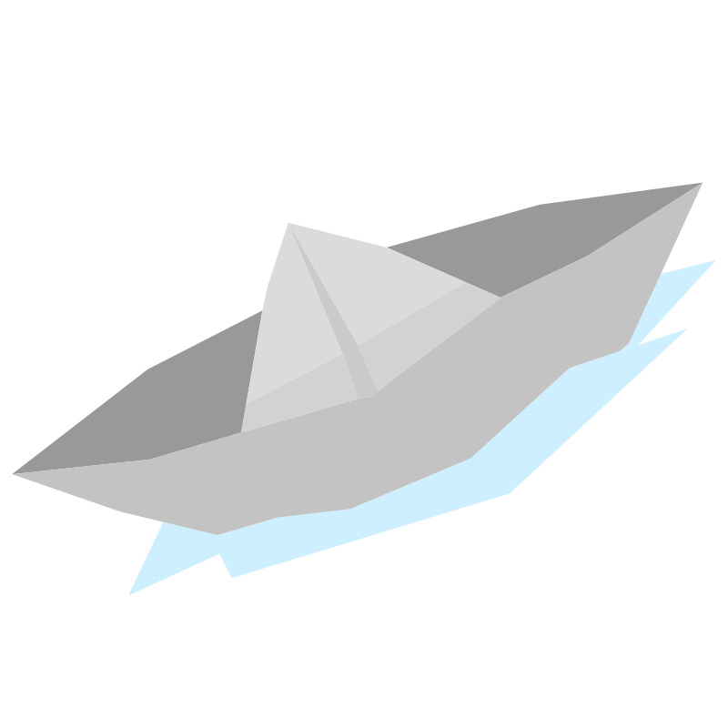 How to make a Sail Paper Boat - Step 3