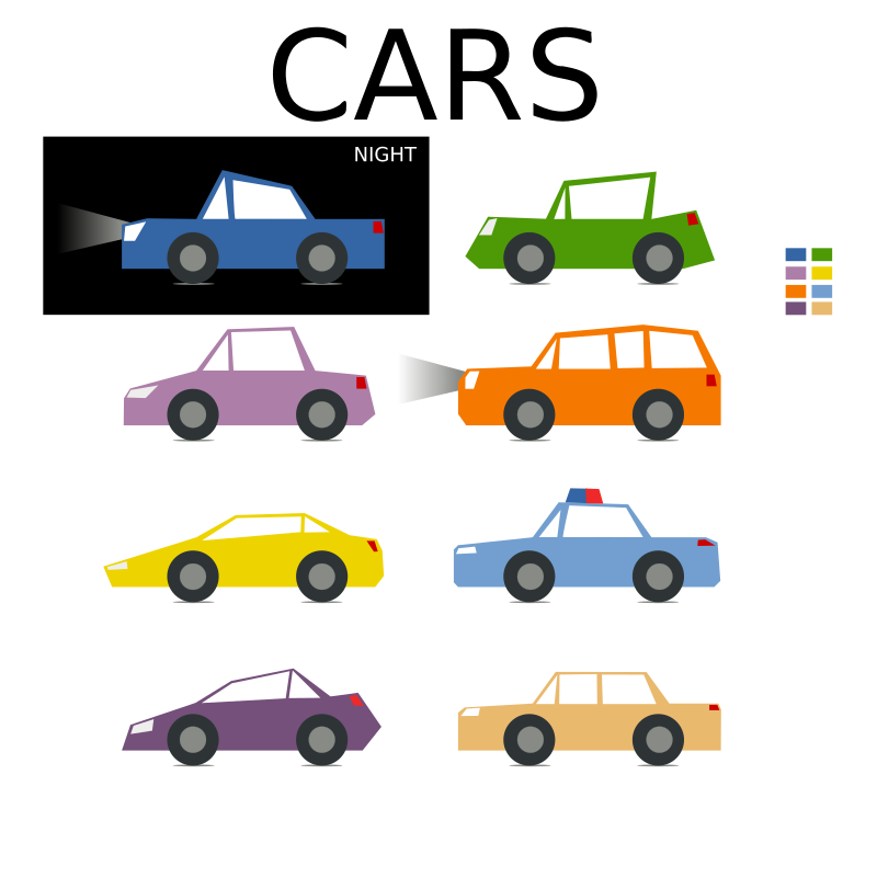 Colorful Cars Game