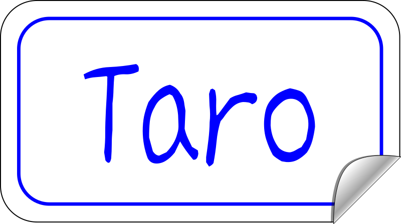 name tag sticker