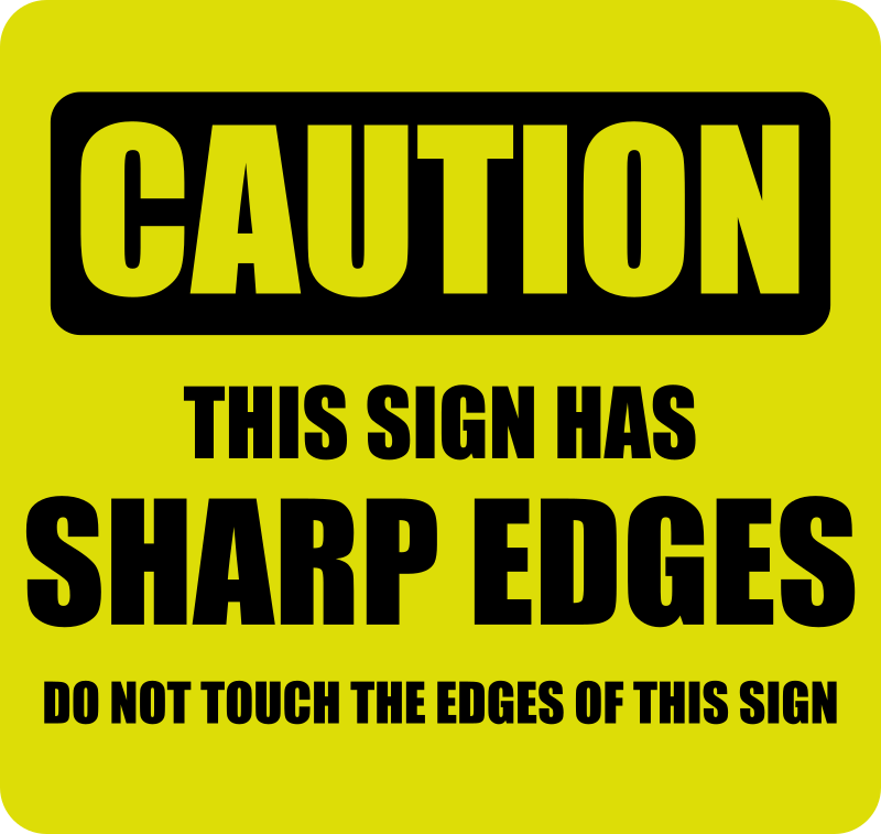 clipart   caution this sign has sharp edges