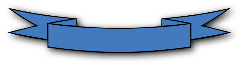 Ribbon_Banner by Gerald_G - A blue ribbon.
