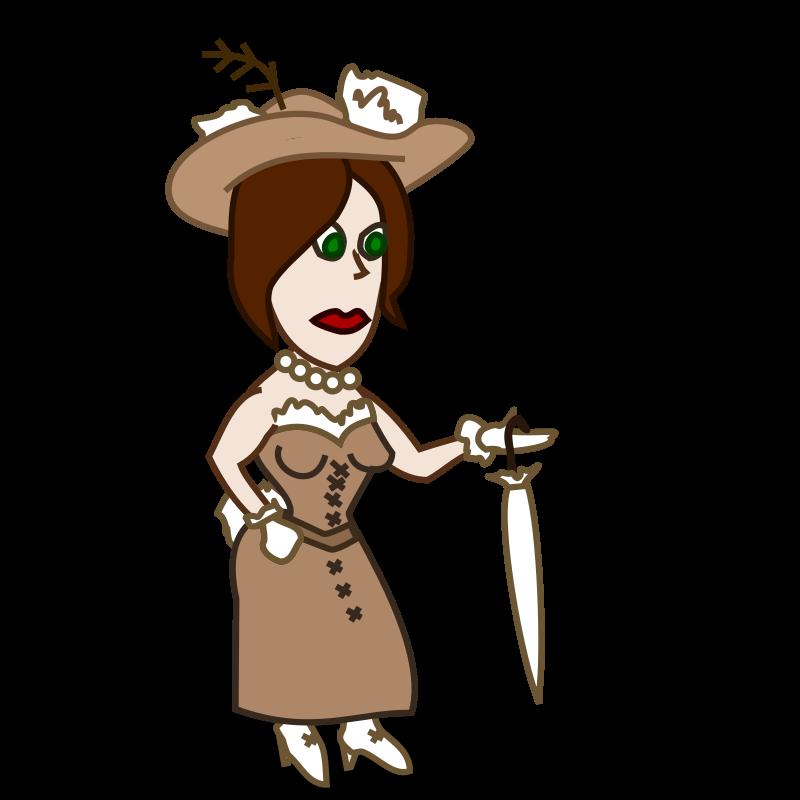 Lady Cartoon Characters : Comic characters lady by nicubunu an