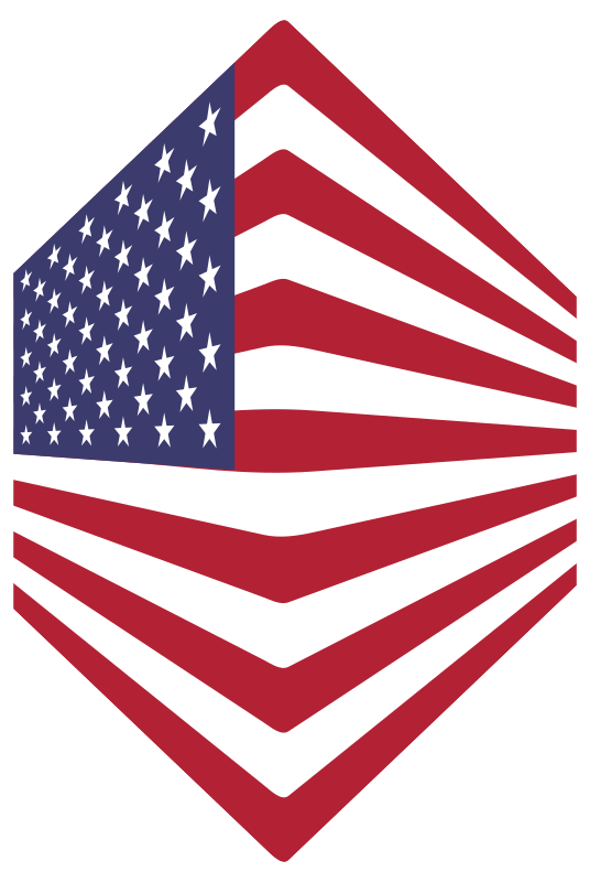 Clipart - America USA Flag Perspective 2