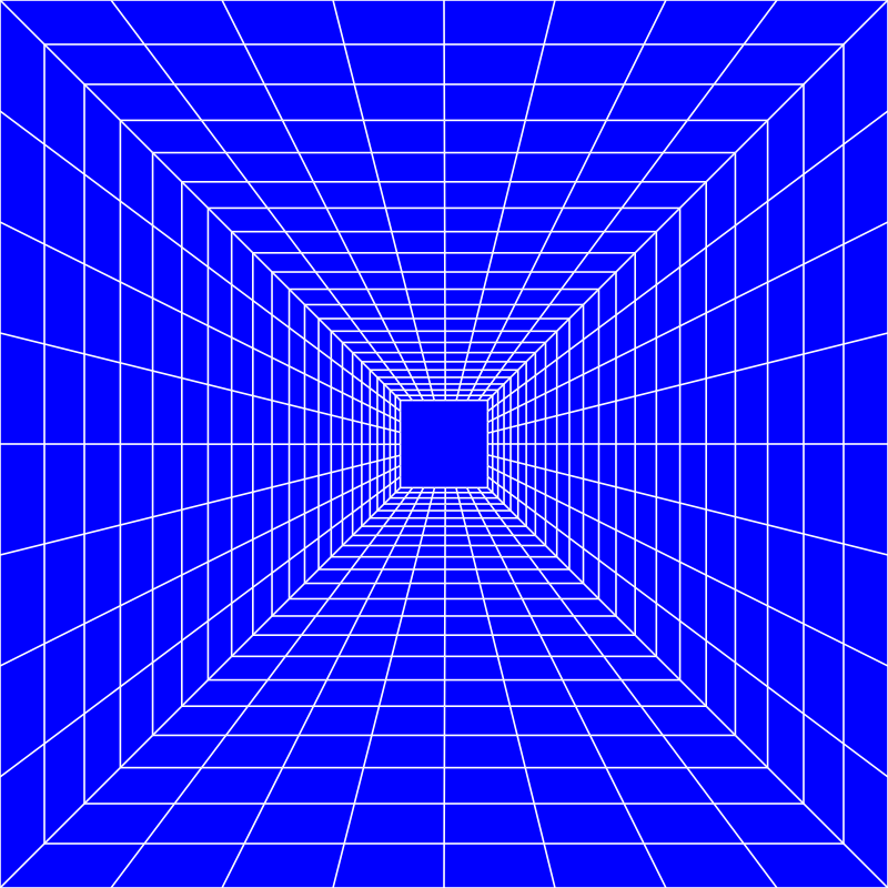 clipart blue perspective grid