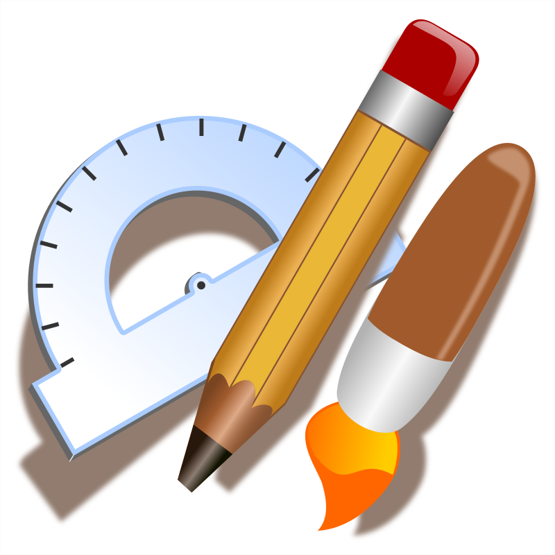 Clipart - Drawing Tools Icon