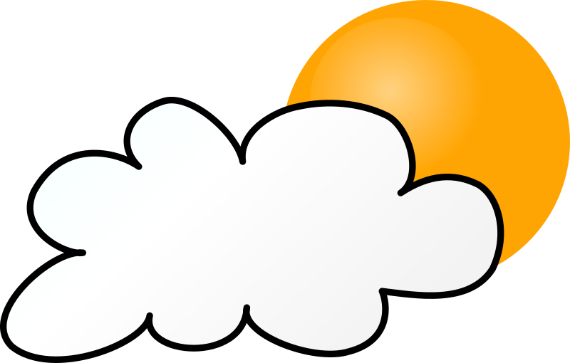 Clipart Weather Symbols Cloudy Day Simple