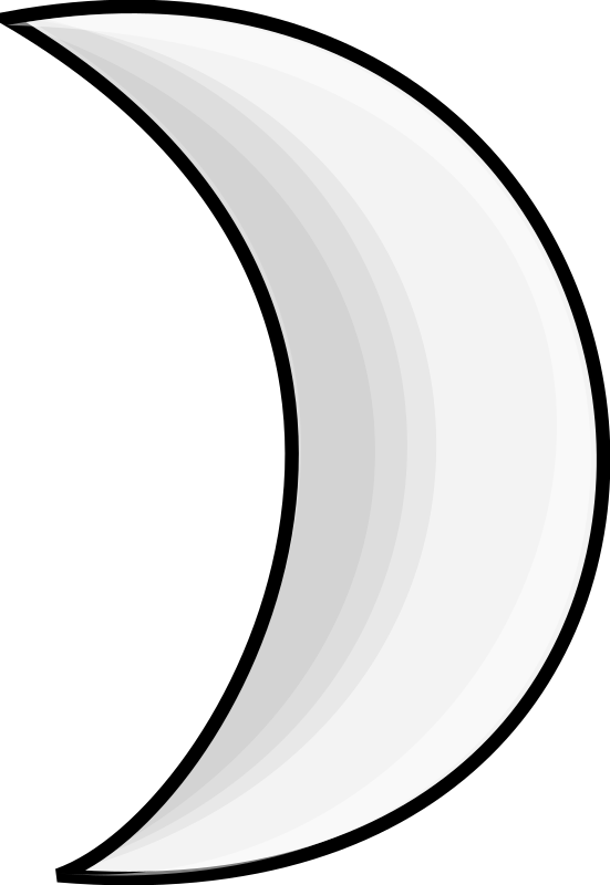 Weather Symbols: Moon (silver) by nicubunu - A silver moon