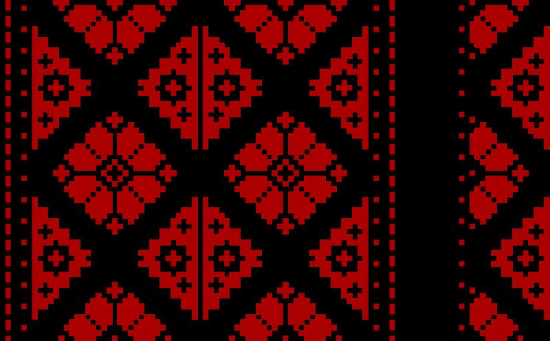 Clipart vyshyvanka pattern