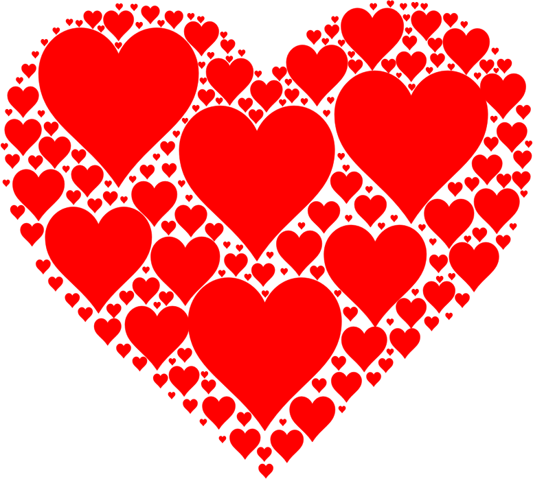 Clipart Hearts In Heart