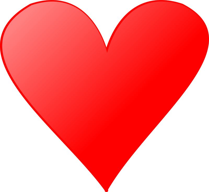 Card symbols: Heart by nicubunu - Heart symbol for playing ...
