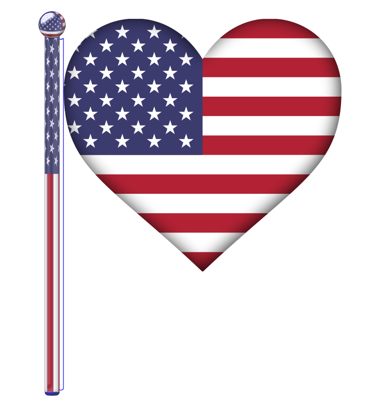 Clipart - USA Heart Flag