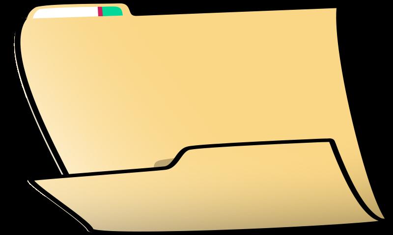 Folder (horizontal) by nicubunu - folder sitting horizontally