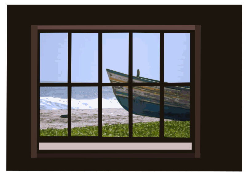 Clipart Window With Ocean View 02