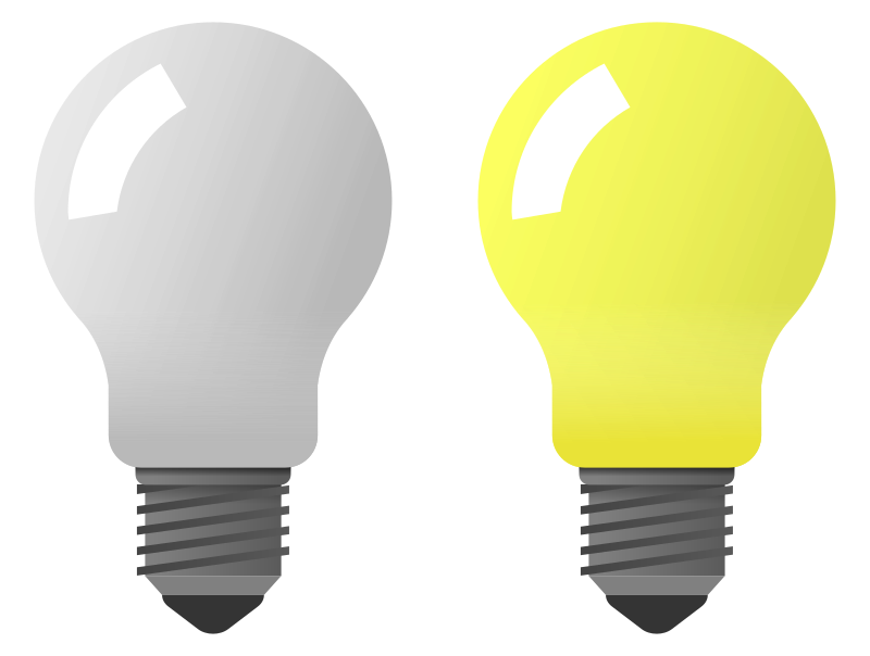 Clipart - Light bulb on off