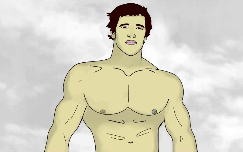 Clipart - Muscular Man