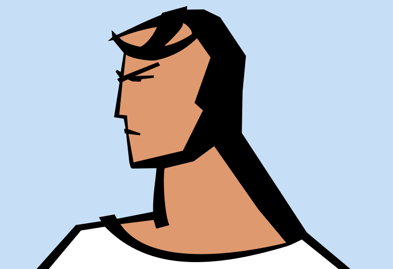 Clipart - Angry man