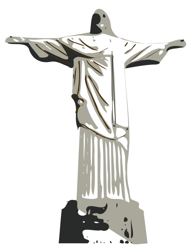 Christ the Redeemer statue by laobc - A vector image of the Christ the Redeemer Statue, from Rio de Janeiro (Brazil). A famous sightseeing. Estátua do Cristo Redentor, no Rio de Janeiro (Brasil).