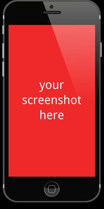 Clipart - mobile mockup
