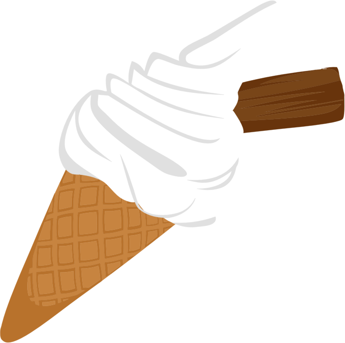 Clipart Ice Cream Cone With Chocolate Biscuit