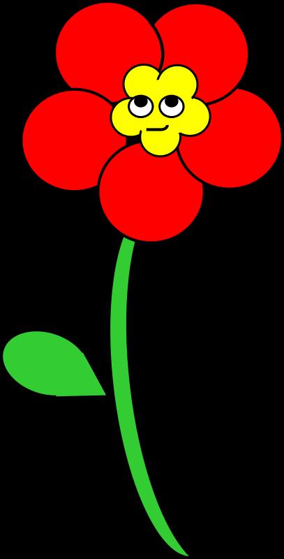red flower clip art