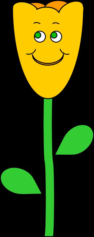 Clipart - Smiling spring tulip