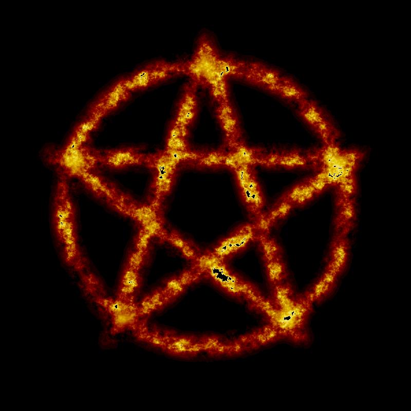 Clipart Burning Pentagram
