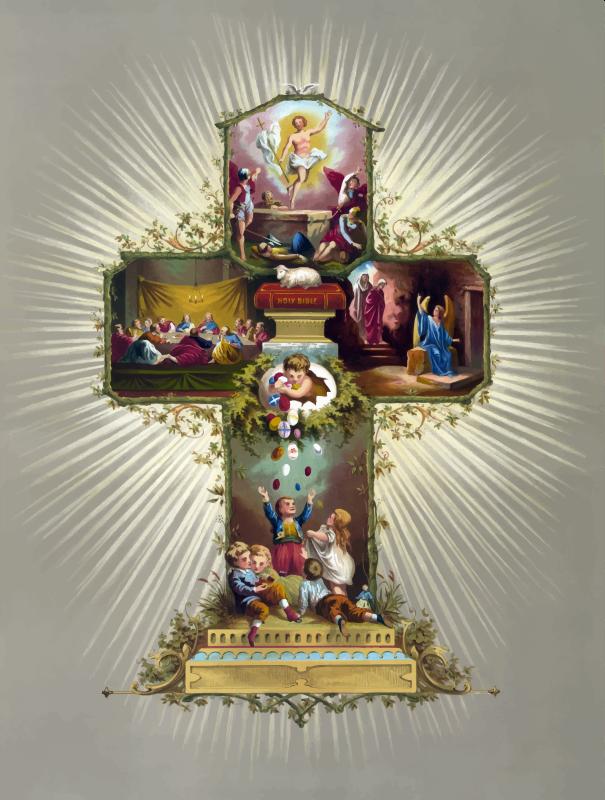 Clipart - Religious Easter Cross