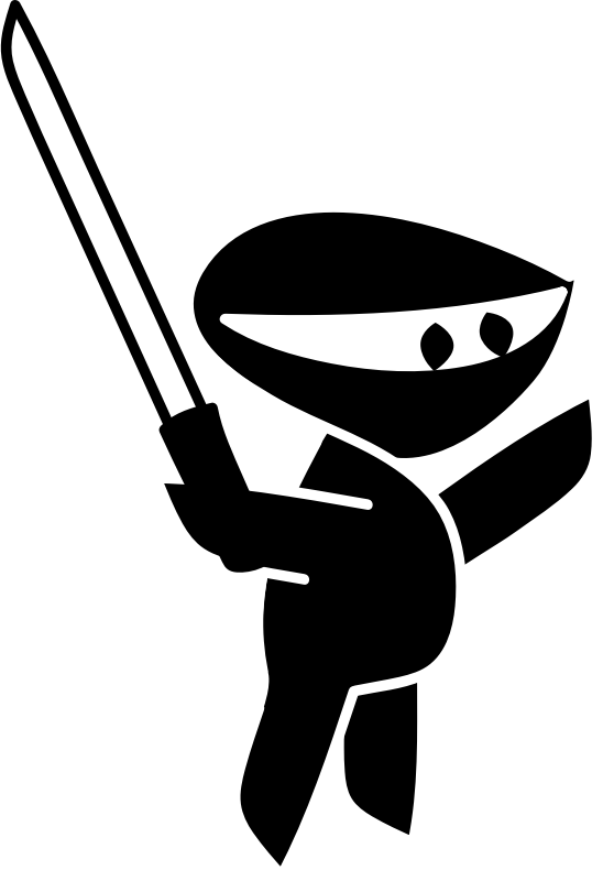 Ninja1 by bpcomp - One piece of clipart for my illustraitor class.