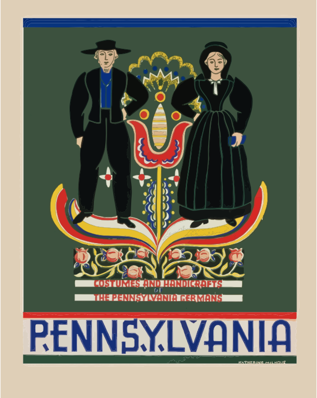 Clipart - Vintage Pennsylvania Travel Poster