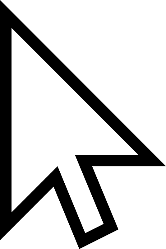 Clipart - White Mouse Cursor Arrow