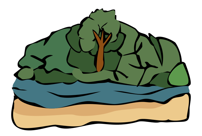Clipart - River view