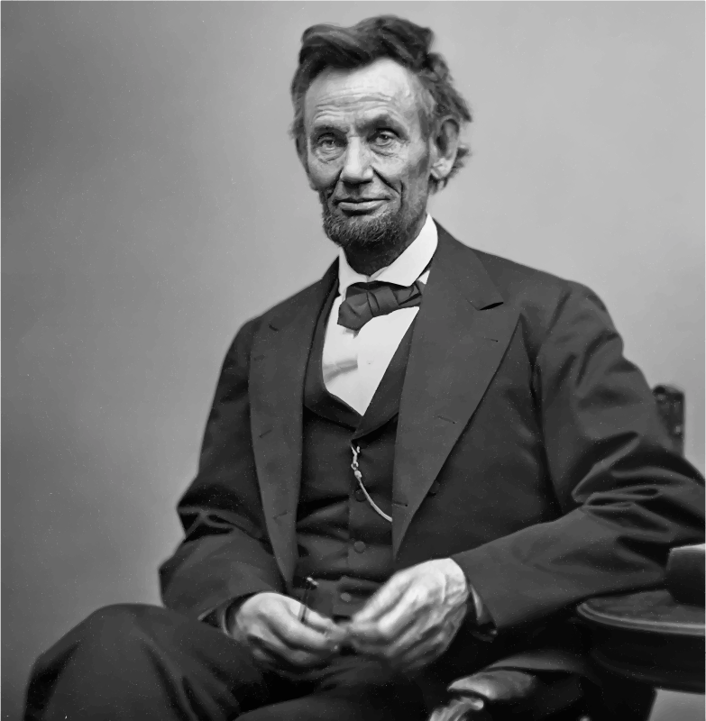 Clipart - Smiling Abraham Lincoln