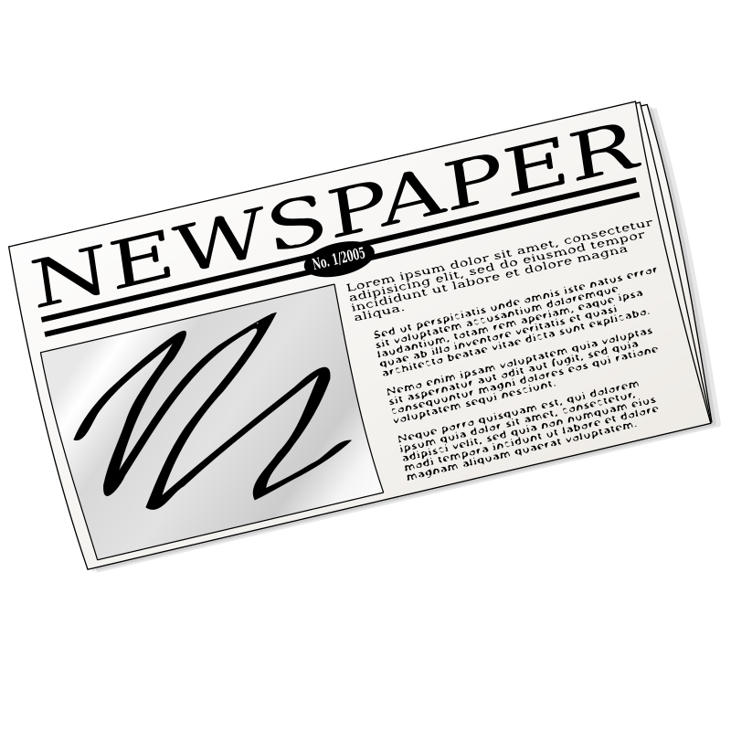 Newspaper by nicubunu - generic newspaper
