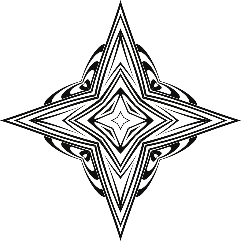 Clipart - Art Deco Star