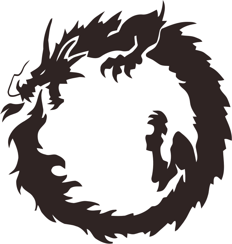 Clipart - Tribal Dragon 10