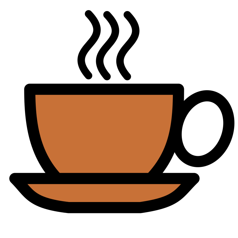 Coffee cup icon by pitr - A cup of tea or coffee with thick black contour.