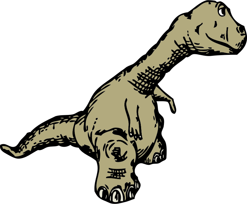 dinosaur sideview by johnny_automatic - a sideview of a cartoon dinosaur from a U.S. patent drawing