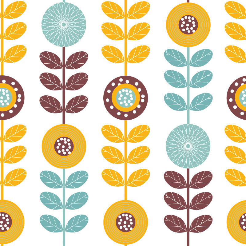 Clipart Seamless Colorful Floral Pattern Background