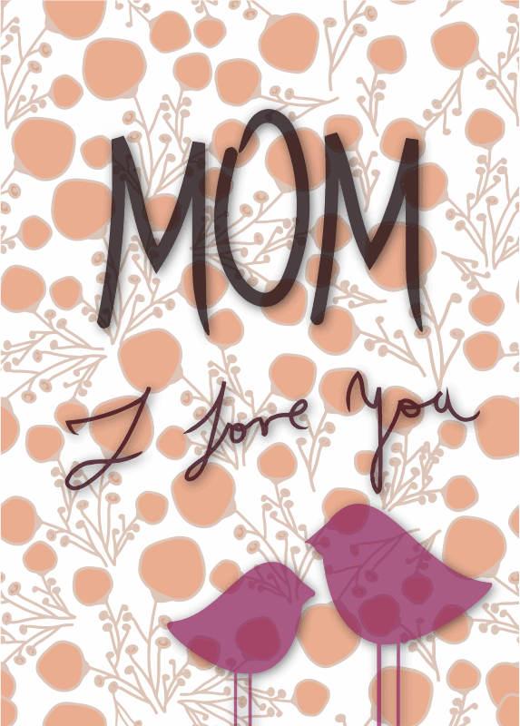 Clipart - Mom I Love You