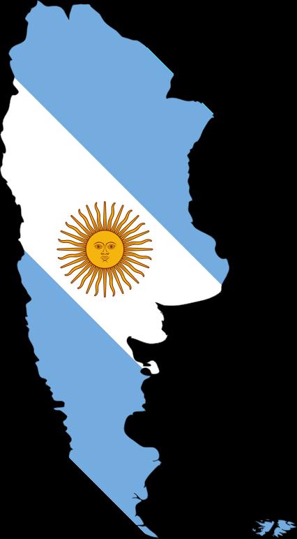 Clipart  Argentina Map Flag