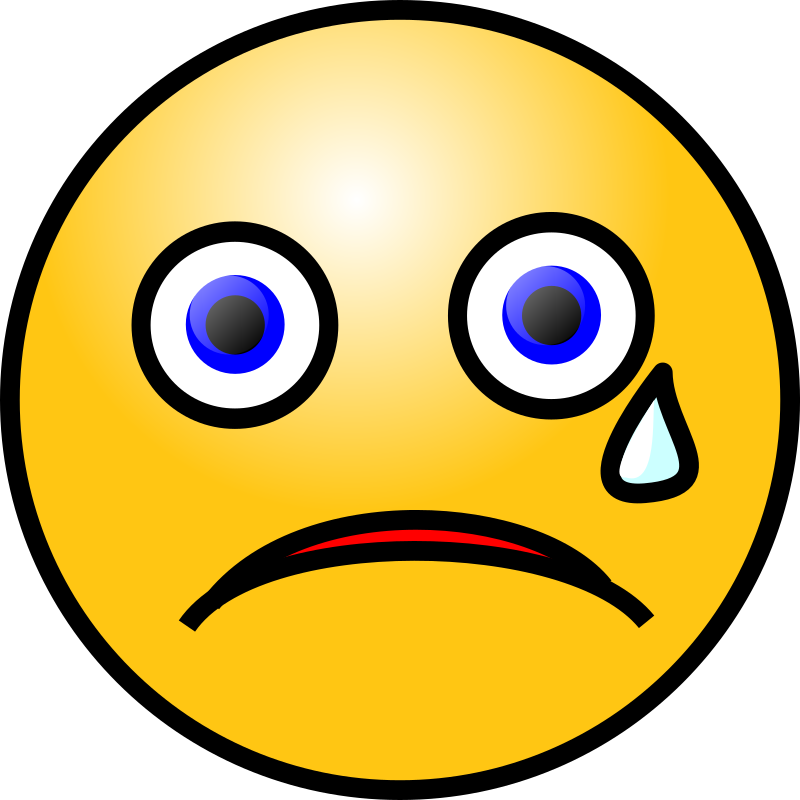 Clipart - Emoticons: Crying face
