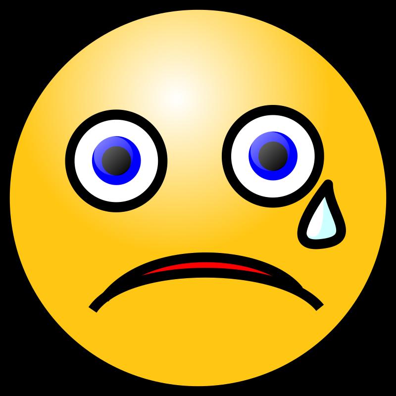 Emoticons: Crying face by nicubunu - 88.9KB
