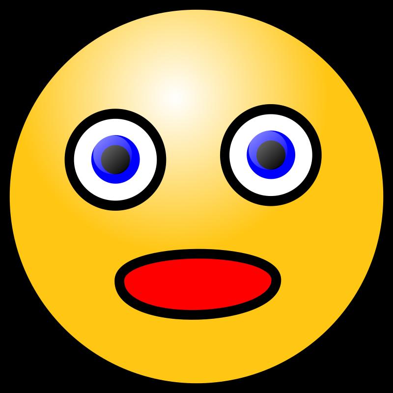Emoticons: Amazed face by nicubunu - amazed face