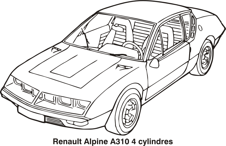 clipart renault alpine a310 4 cylindres year 1972. Black Bedroom Furniture Sets. Home Design Ideas