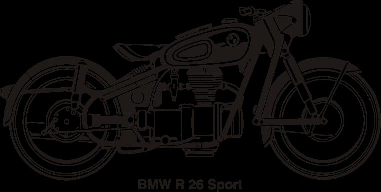 Clipart - BMW R26 Sport, year 1956